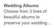 Wedding Albums